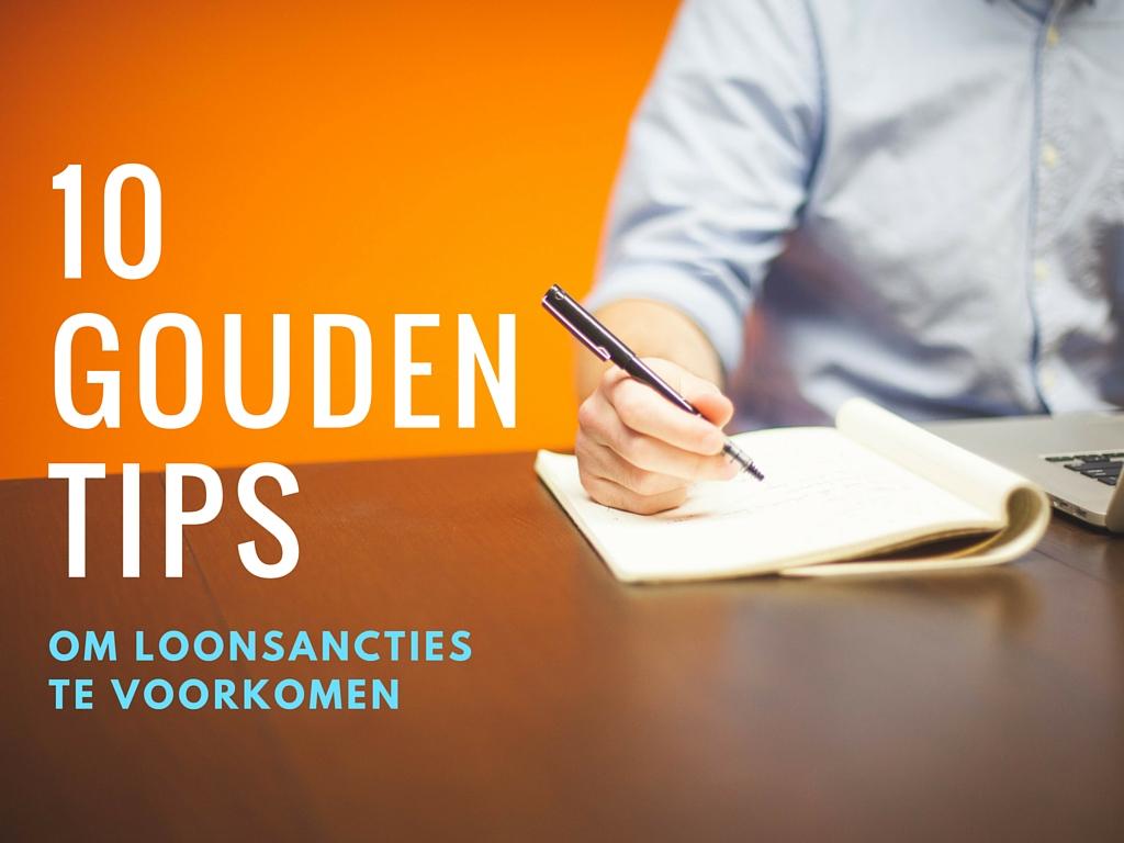 10 gouden tips om loonsancties te voorkomen